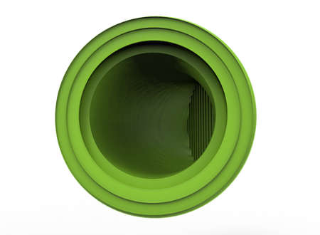 3d illustration of ventilation tube. white background isolated. icon for game web.