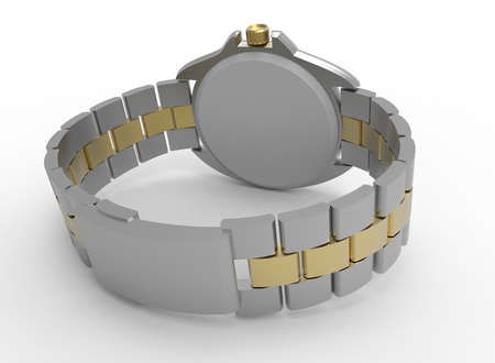 3d illustration of hand watches. white background isolated. icon for game web.