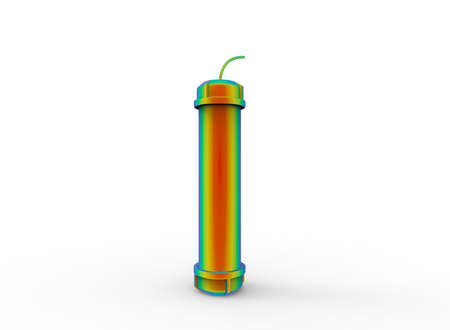 3d illustration of bomb. white background isolated. icon for game web. Stock Photo