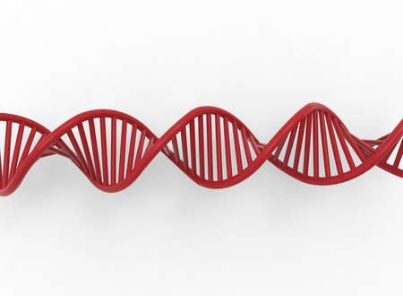 3d illustration of DNA. white background isolated. icon for game web. Stock Photo
