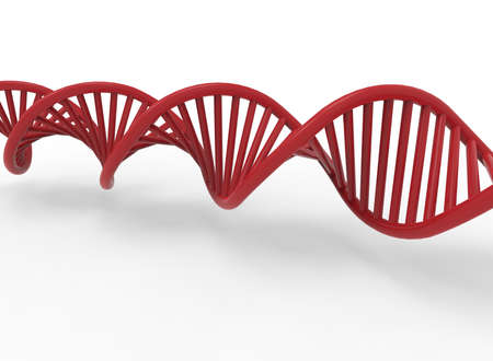 virus cell: 3d illustration of DNA. white background isolated. icon for game web. Stock Photo