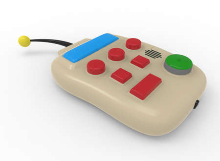 remote controls: 3d illustration of remote control. white background isolated. icon for game web. Stock Photo