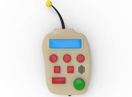 3d illustration of remote control. white background isolated. icon for game web. Stock Photo