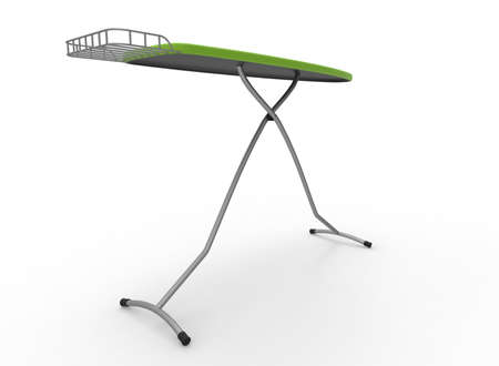 3d illustration of ironing board. white background isolated. icon for game web. Stock Photo