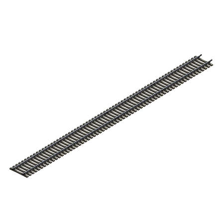 divergence: 3d illustration of railroad track. white background isolated. icon for game web.