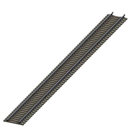 3d illustratie van spoorwegbaan. witte achtergrond geïsoleerd. pictogram voor spelweb.