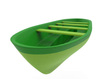 paddles: 3d illustration of lifeboat. white background isolated. icon for game web.