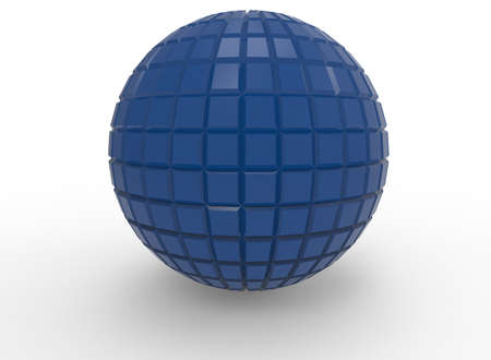 rainbow: 3d illustration of abstract geometry ball. white background isolated. icon for game web. Stock Photo