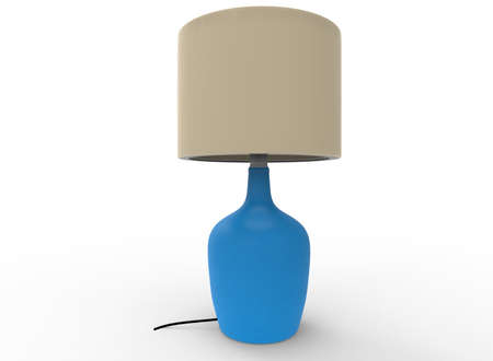 3d illustration of lamp. white background isolated. icon for game web.