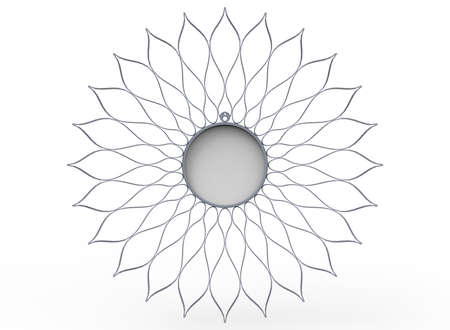3d illustration of mirror. white background isolated. icon for game web.