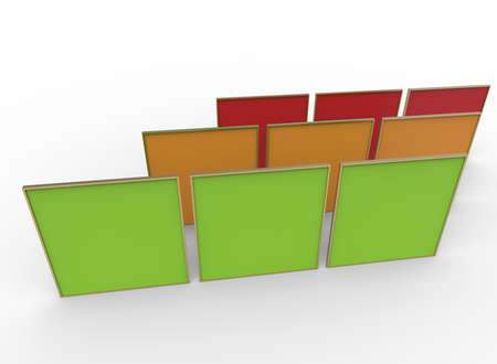 3d illustration of squares. white background isolated. icon for game web.