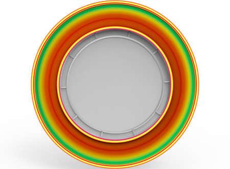 3d illustratie van ornamentframe. witte achtergrond geïsoleerd. pictogram voor game web.