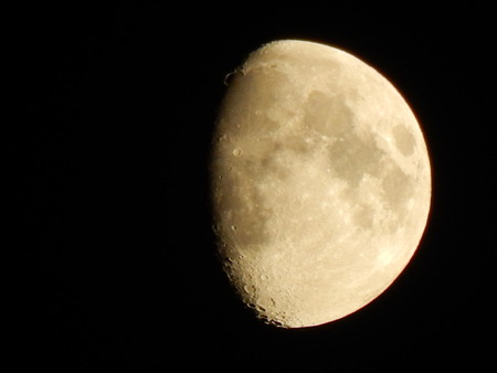 Close up of the moon in the sky