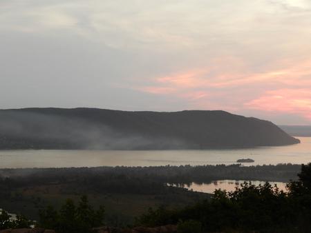volga: Evening landscape of the Volga