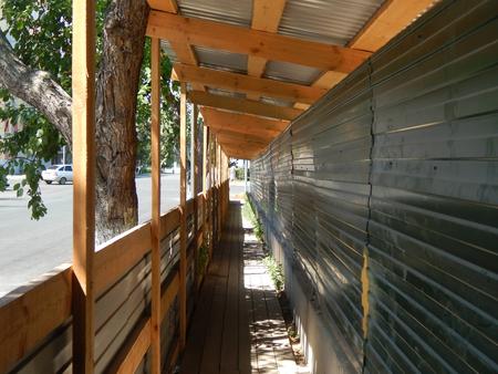 esgrima: una cerca de construcción Foto de archivo