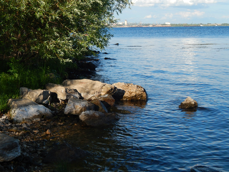 river view: Landscape of nature on the Volga Stock Photo