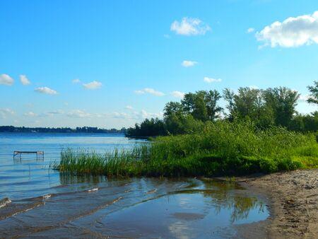 volga river: Landscape of nature on the Volga River