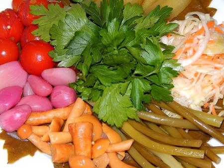 pickled: Salad of pickled vegetables Stock Photo