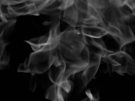 dynamic heat black: smoke Stock Photo