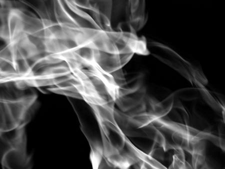 dynamic heat black: Smoke on a black background