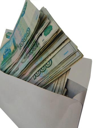 money packs: Envelope with Russian money packs