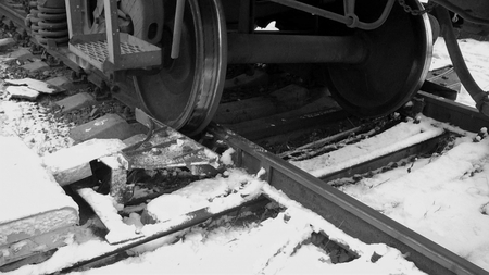 fell: Railcar wheel fell off the rails
