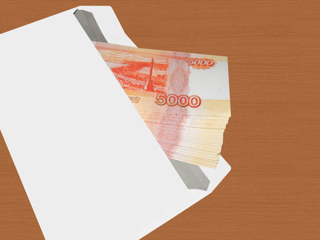 rubles: Bundle of money in 5000 rubles