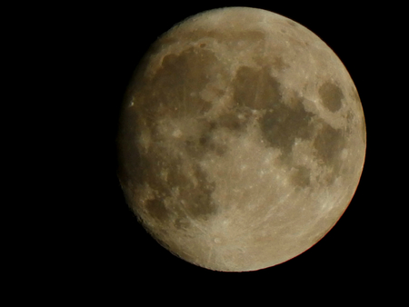 moon crater: Moon in the night sky Stock Photo