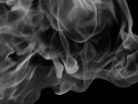 dynamic heat black: Texture of white smoke in a black background