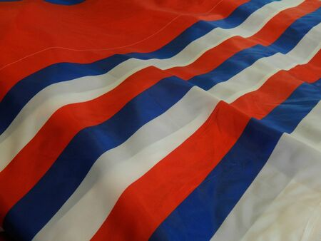 tricolor: Material for the tricolor flag Stock Photo