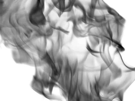 dynamic heat black: Texture smoke on a white background Stock Photo