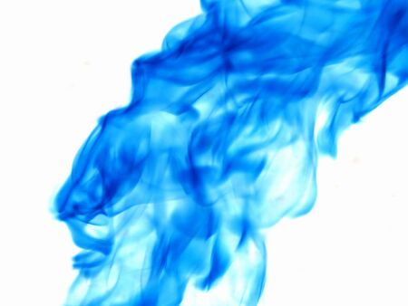 dynamic heat black: Texture of blue smoke on a white background