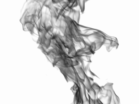 dynamic heat black: Texture of black smoke at the white background
