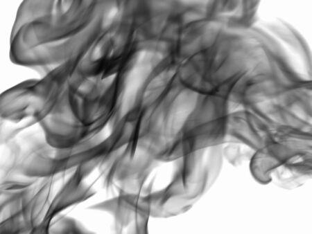 dynamic heat black: Texture smoke at the white background