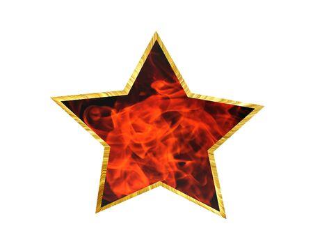 cobblestone street: 3D Illustration. The star on a white background Stock Photo