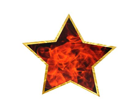 3D Illustration. The star on a white background Stock Photo