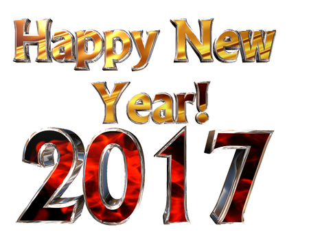 new years background: Happy New Year 2017 on a white background