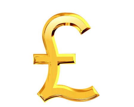 sterling: Pound sterling symbol on a white background