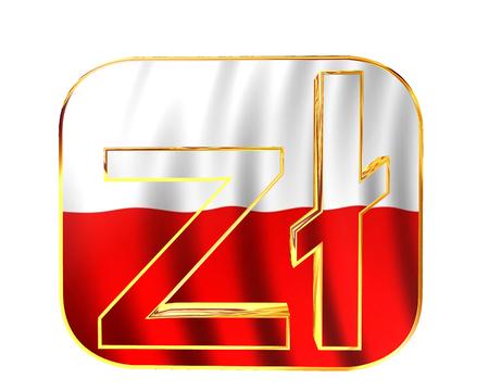 zloty: symbol of Polish zloty on white background