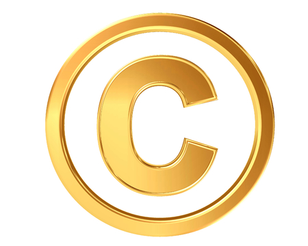 Symbol copyright symbol on a white background Stock Photo