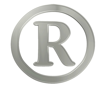 registration: Symbol registration plate on a white background