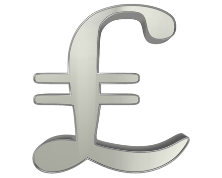 lira: The currency symbol lira sign on a white background Stock Photo