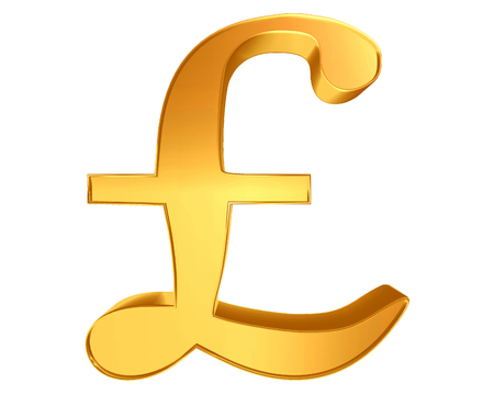 Symbol pound currency sign on a white background