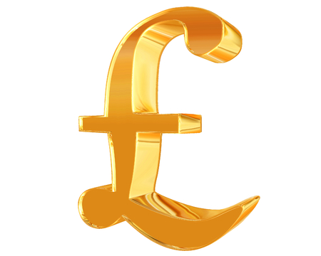Symbol Pound Currency Sign On A White Background Stock Photo