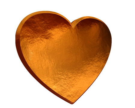 golden heart: Golden heart on a white background Stock Photo