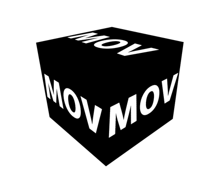 mov: MOV format icons on a white background