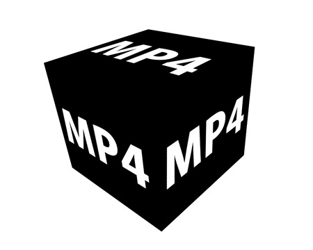 mp4: MP4 format icons on a white background Stock Photo
