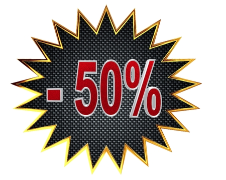 percentage: Icon discount on a white background
