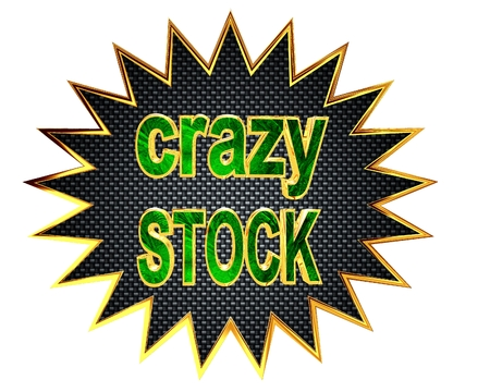wholesale: Sign crazy stock on a white background Stock Photo