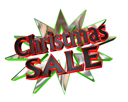 Icon with text Christmas sale on a white background